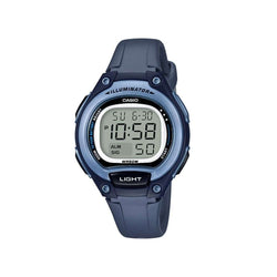 Casio LW-203-2AVDF Digital Blue Silicone Strap Watch for Women