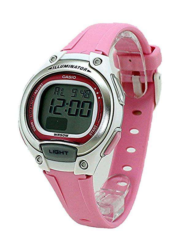 Casio LW-203-4AVDF Digital Pink Resin Strap Watch for Women