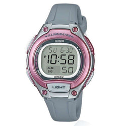 Casio LW-203-8AVDF Digital Gray Resin Strap Watch for Women