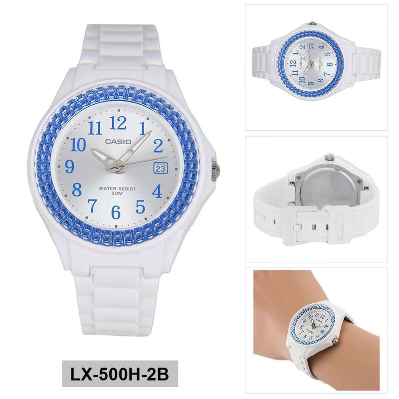 Casio LX-500H-2B White Resin Watch for Women