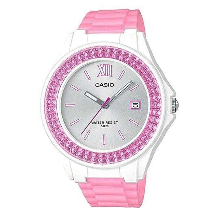 Casio LX-500H-4E3VDF Pink Resin Strap Watch for Women