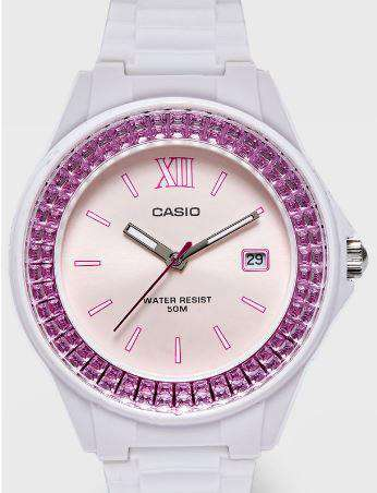 Casio LX-500H-4E White Resin Watch For Women