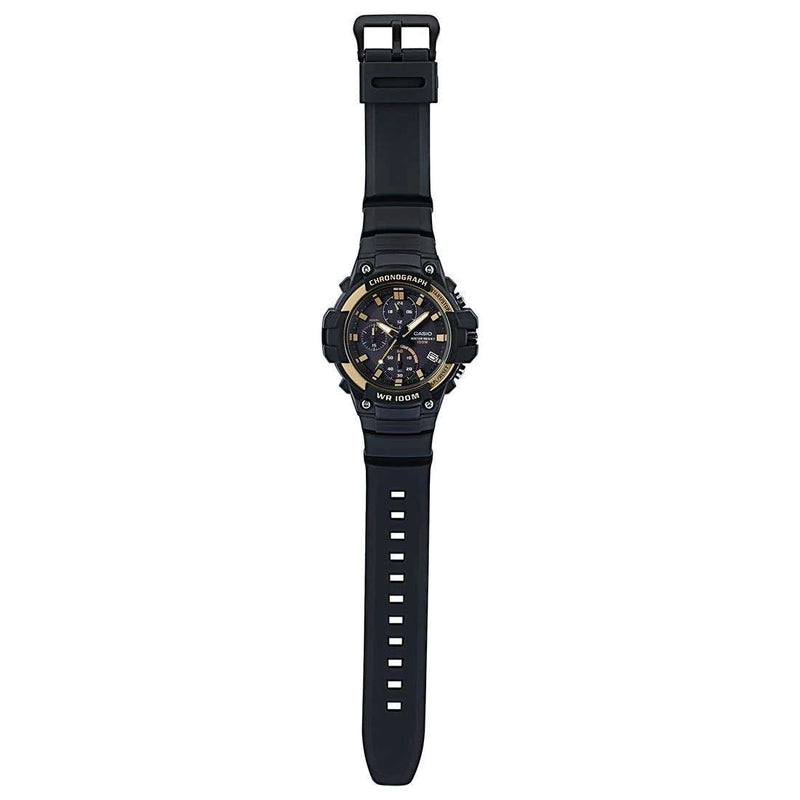 Casio MCW-110H-9AVDF Analog Chronograph Black Resin Strap Watch for Men