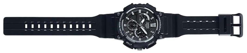 Casio MCW-200H-1AVDF Analog Chronograph Black Resin Strap Watch for Men