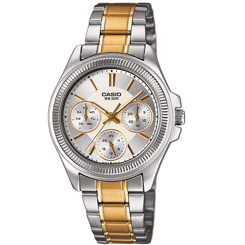 Casio LTP-2088SG-7A Two-Toned Stainless Watch for Women