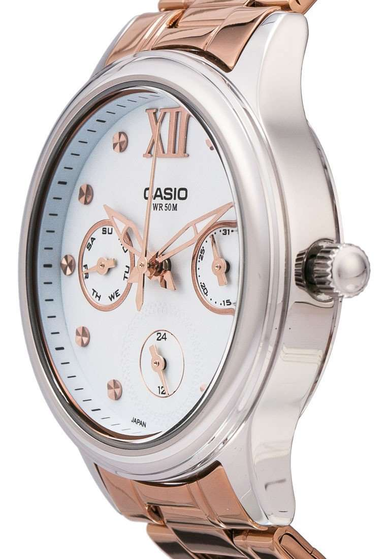 Casio LTP-E306R-2A Rose Gold Stainless Watch for Women