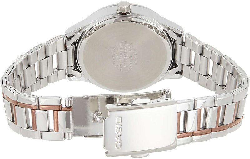 Casio LTP-E306RG-7AVDF Two-Toned Stainless Watch for Women