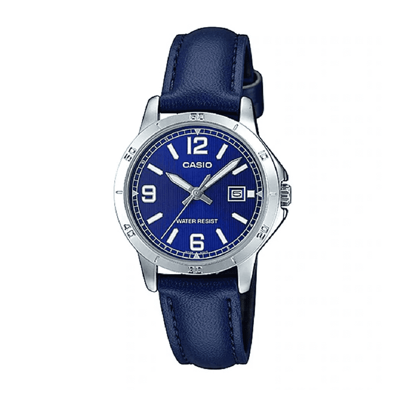 Casio LTP-V004L-2B Blue Leather Watch for Women