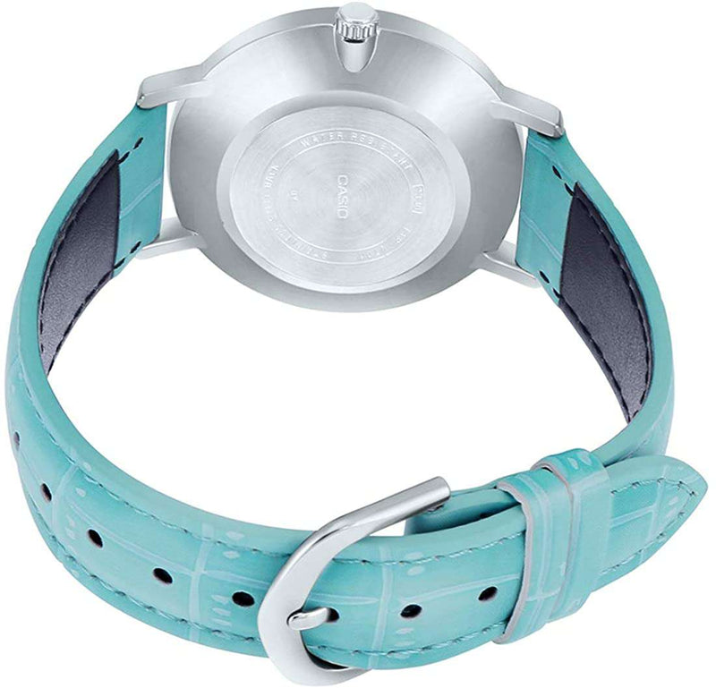 Casio LTP-VT01L-7B3 Light Blue Leather Strap for Women