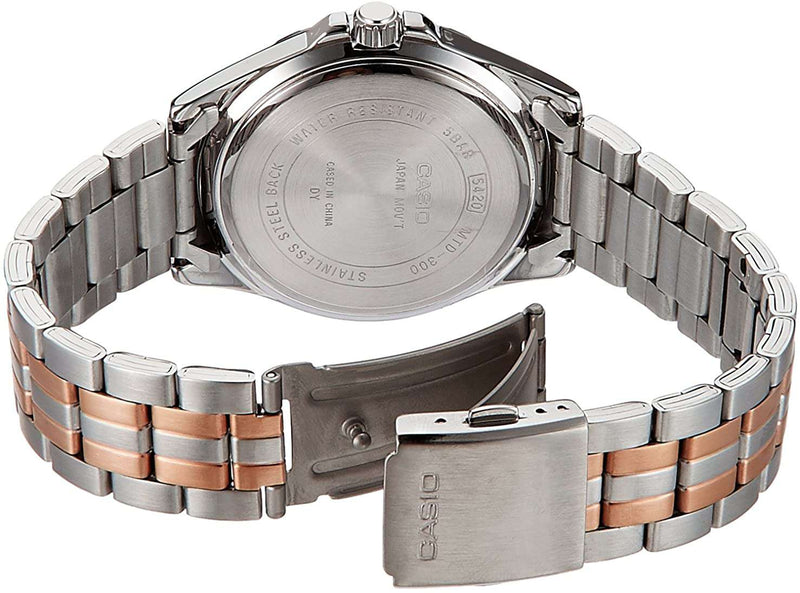 Casio MTD-300RG-7A Two-Toned Stainless Watch for Men