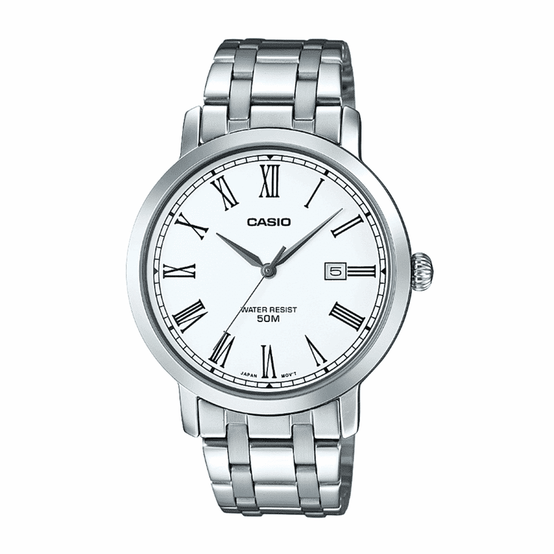 Casio MTP-E149D-7B Silver Stainless Watch for Men