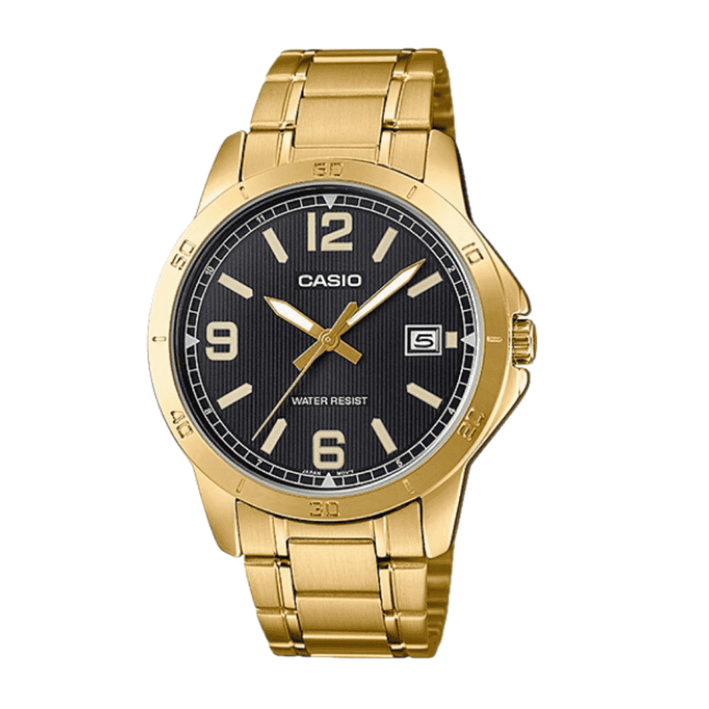 Casio MTP-V004G-1B Gold Stainless Watch for Men
