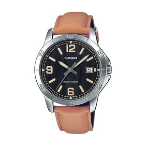 Casio MTP-V004L-1B2 Brown Leather Watch for Men