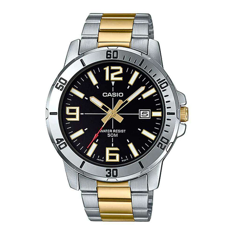 Casio MTP-VD01SG-1B Two-Toned Stainless Watch for Men