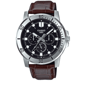 Casio MTP-VD300L-1E Brown Leather Watch for Men