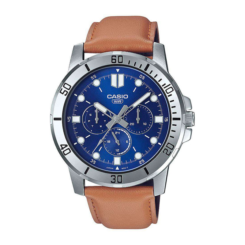 Casio MTP-VD300L-2E Brown Leather Watch for Men