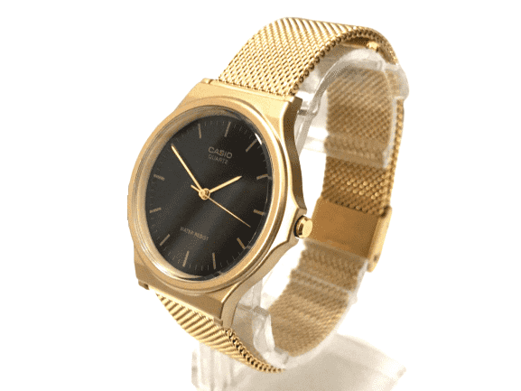 Casio MQ-24MG-1EDF Gold Plated Mesh Strap Watch for  Women