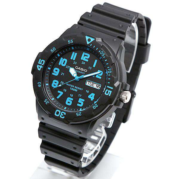 Casio MRW-200H-2B Black Resin Strap Watch For Men
