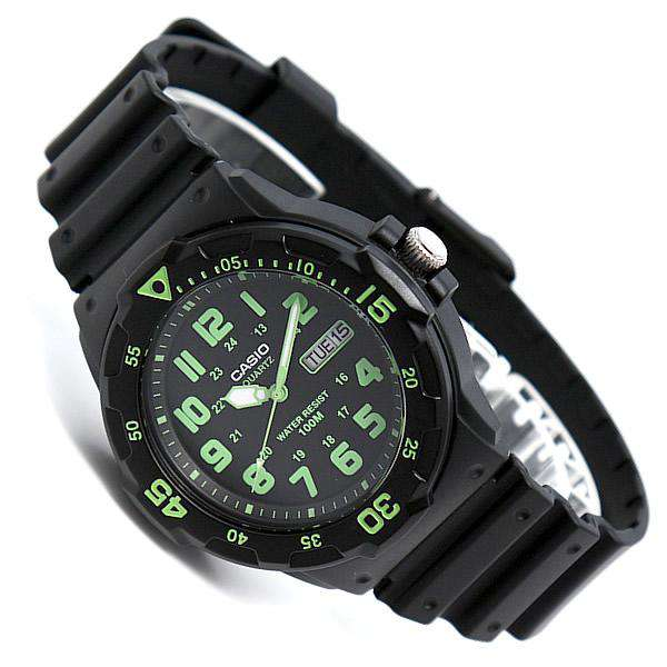 Casio MRW-200H-3B Black Resin Strap Watch for Men