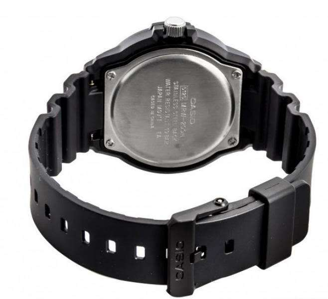 Casio MRW-200H-4B Black Resin Strap Watch for Men