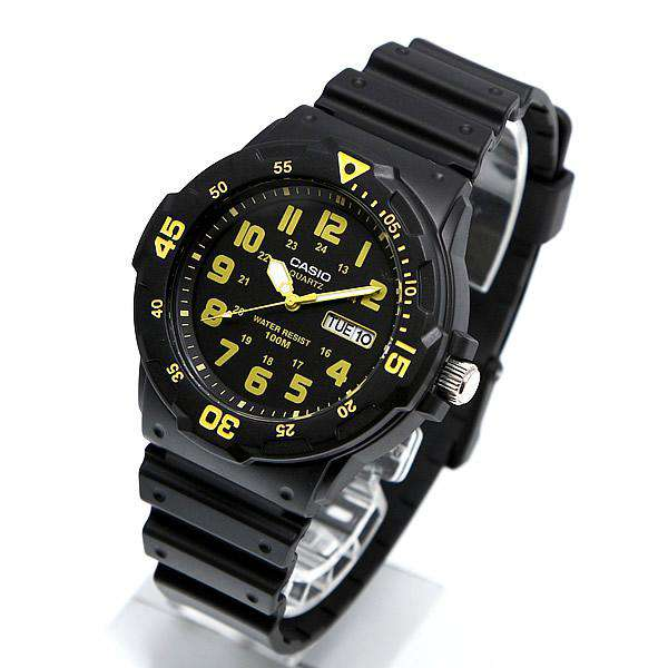 Casio MRW-200H-9B Black Resin Strap Watch for Men