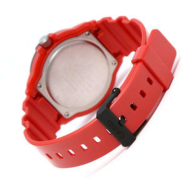 Casio MRW-200HC-4B Red Resin Strap Watch for Men