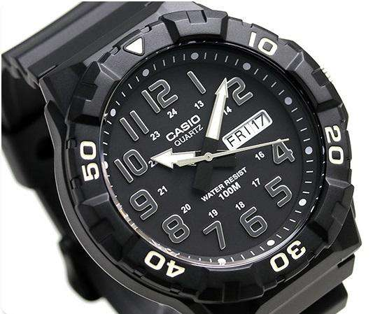 Casio MRW-210H-1AVDF Analog Black Resin Strap Watch for Men