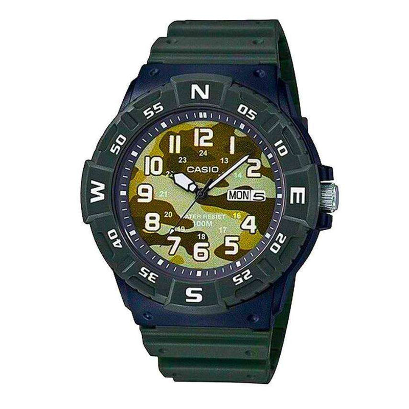 Casio MRW-220HCM-3BVDF Green Resin Strap Watch for Men