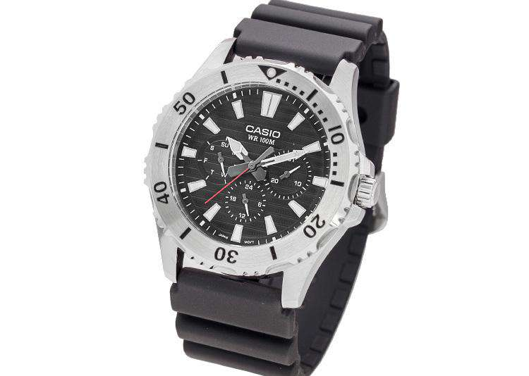 Casio MTD-1086-1A Analog Resin Black Strap Watch for Men