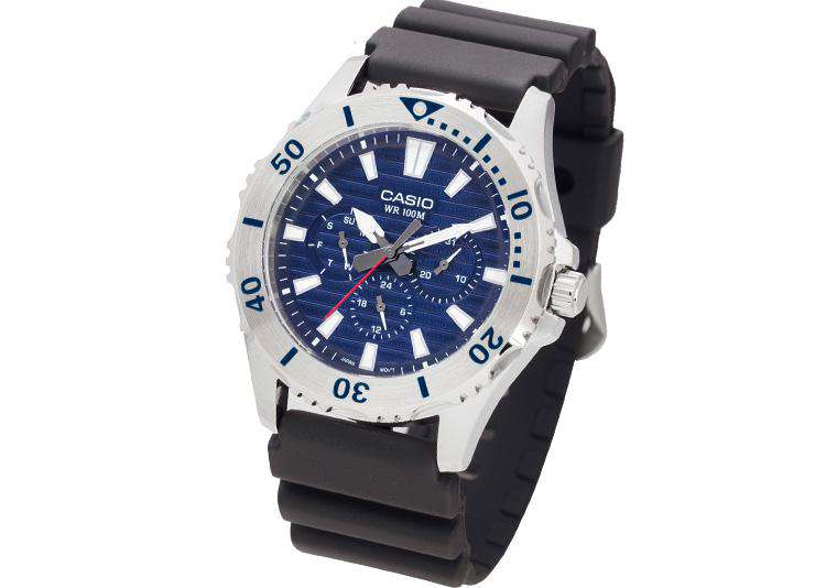 Casio MTD-1086-2A Analog Resin Black Strap Watch for Men