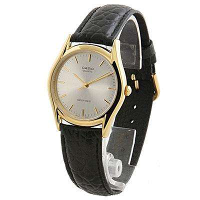 Casio MTP-1094Q-7AD Black Leather Strap Watch for Men