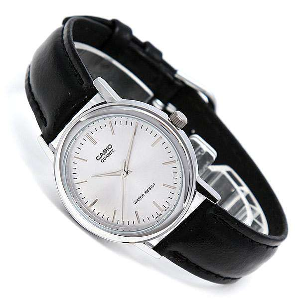 Casio MTP-1095E-7ADF Black Leather Strap Watch for Men