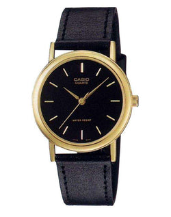 Casio MTP-1095Q-1AD Black Leather Strap Watch for Men