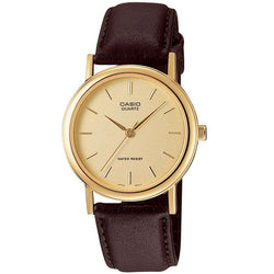 Casio MTP-1095Q-9AD Brown Leather Strap Watch for Men and Women
