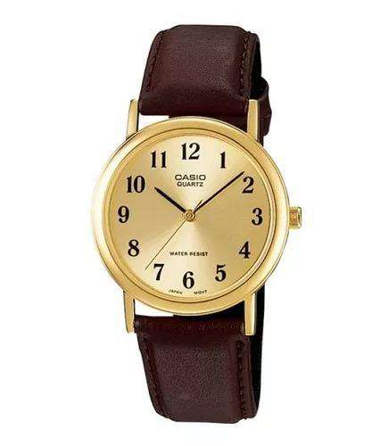 Casio MTP-1095Q-9B1D Brown Leather Strap Watch for Men and Women