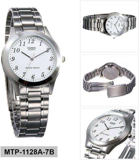 Casio MTP-1128A-7BRDF Silver Stainless Steel Strap Watch for Men
