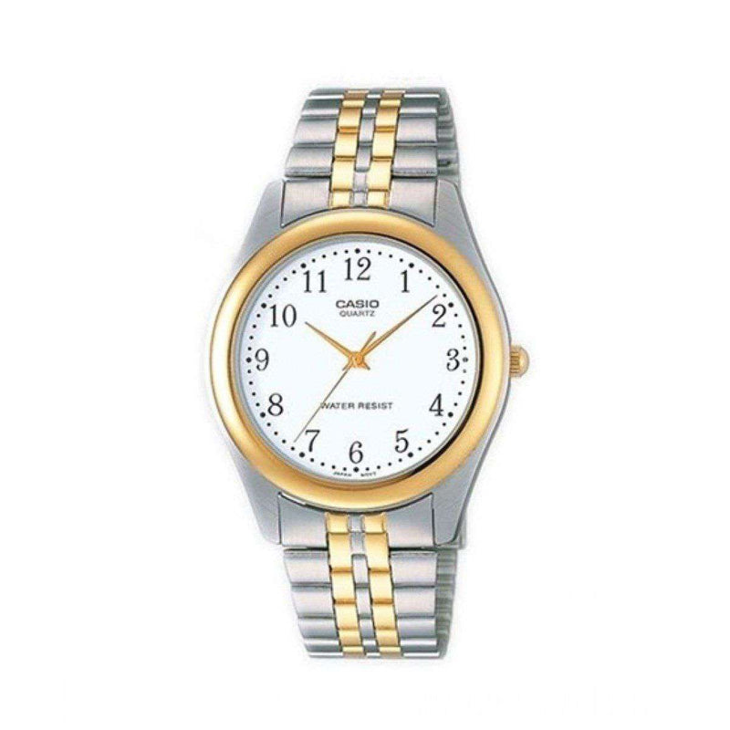 Casio MTP-1129G-7BRDF Two Tone Stainless Steel Strap Watch for Men