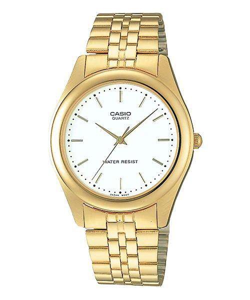 Casio MTP-1129N-7A Gold Stainless Steel Strap Watch for Men and Women