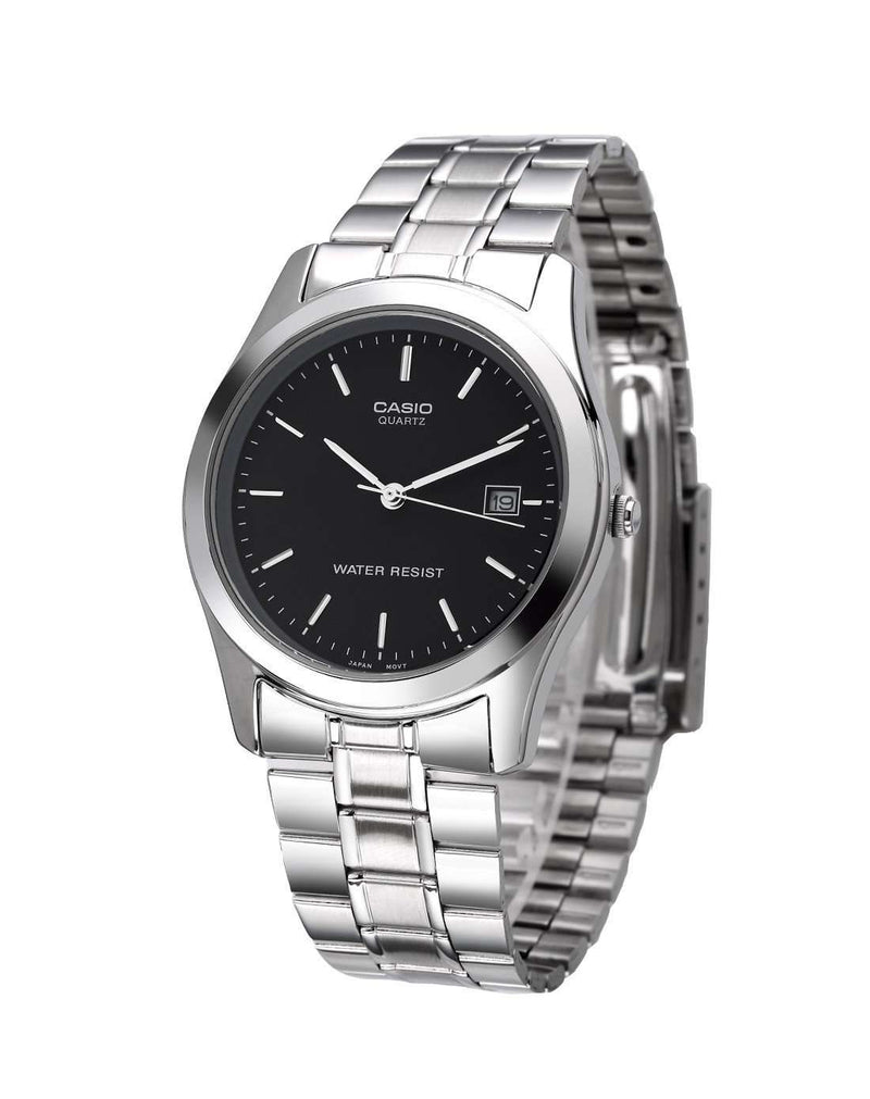 Casio Vintage MTP-1141A-1A  Black Dial/ Silver Stainless Steel Strap Men's Watch