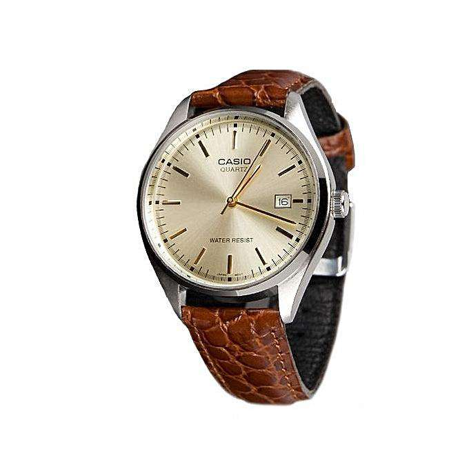 Casio MTP-1175E-9ADF Brown Leather Strap Watch for Men