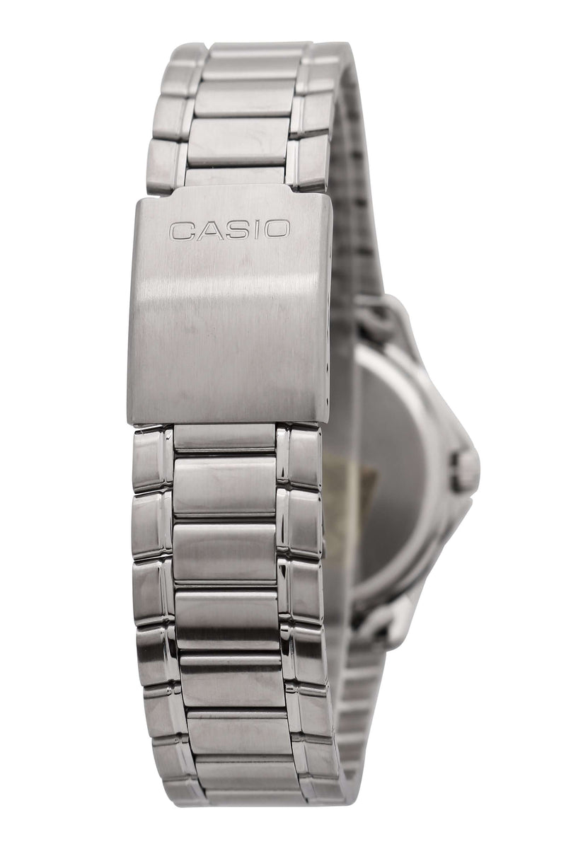 Casio Men's Silver Stainless Steel Strap Watch- MTP-1183A-1ADF