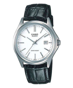 Casio MTP-1183E-7ADF Black Leather Strap Watch for Men