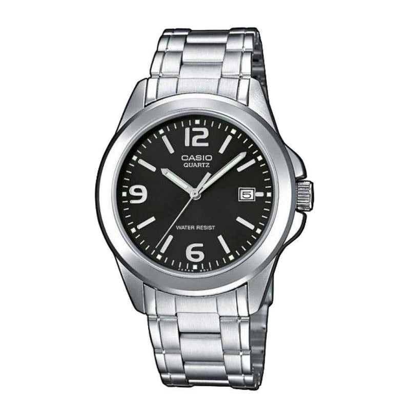 Casio MTP-1215A-1ADF Silver Stainless Steel Strap Watch for Men
