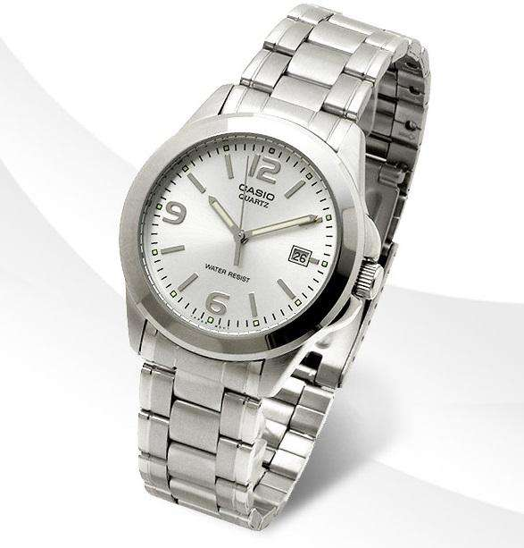 Casio MTP-1215A-7ADF Silver Stainless Steel Strap Watch for Men