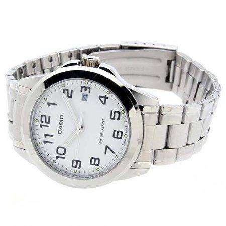 Casio MTP-1215A-7B2DF Silver Stainless Steel Strap Watch for Men