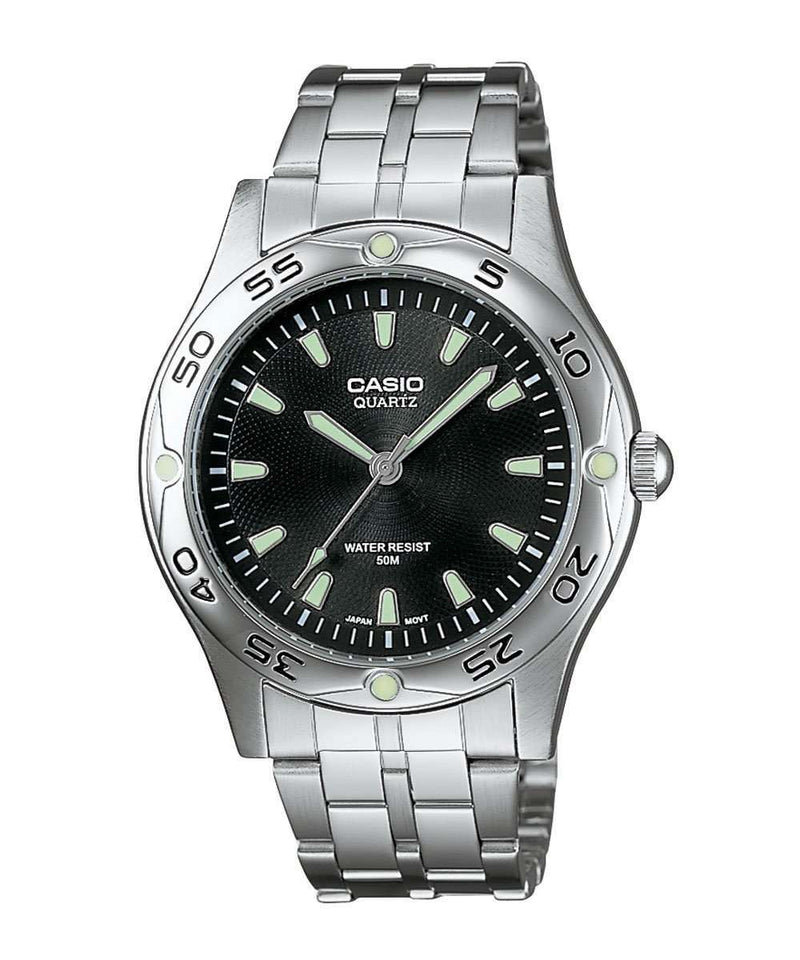 Casio MTP-1243D-1AVDF Silver Stainless Steel Strap Watch for Men