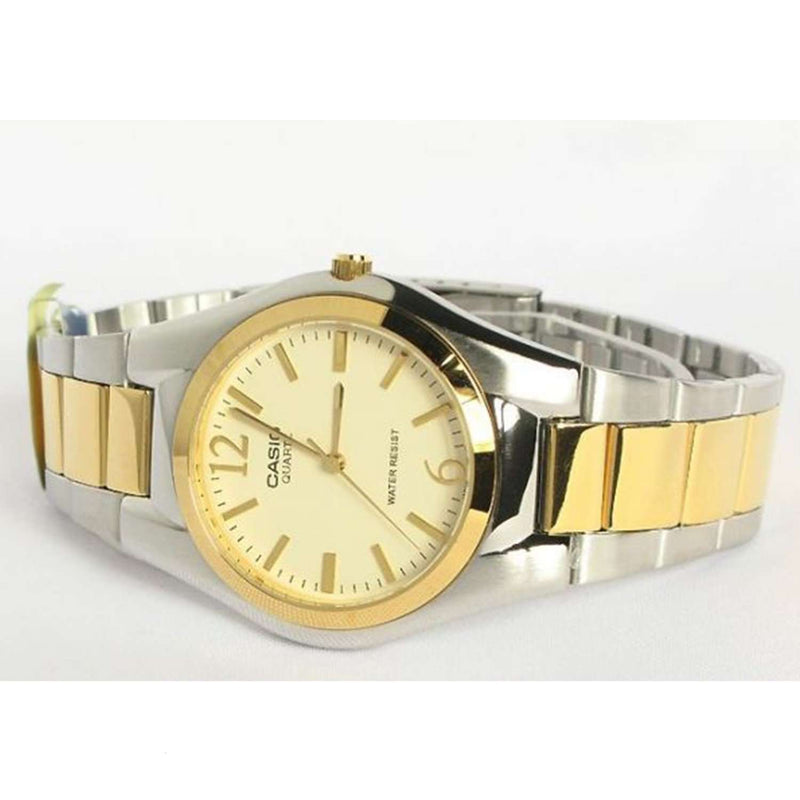 Casio MTP-1253SG-9ADF Two Tone Stainless Steel Strap Watch for Men