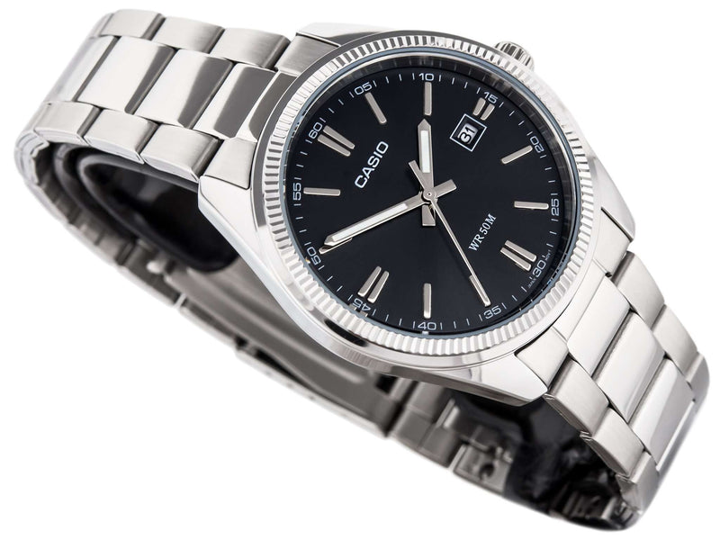 Casio MTP-1302D-1A1VDF Silver Stainless Steel Strap Watch for Men