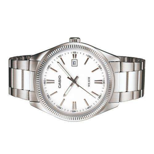 Casio MTP-1302D-7A1VDF Silver Stainless Steel Strap Watch for Men