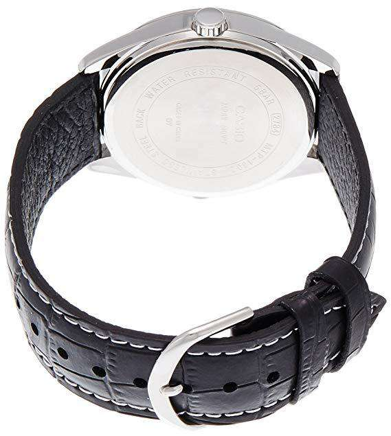 Casio MTP-1302L-7BVDF Black Leather Strap Watch for Men
